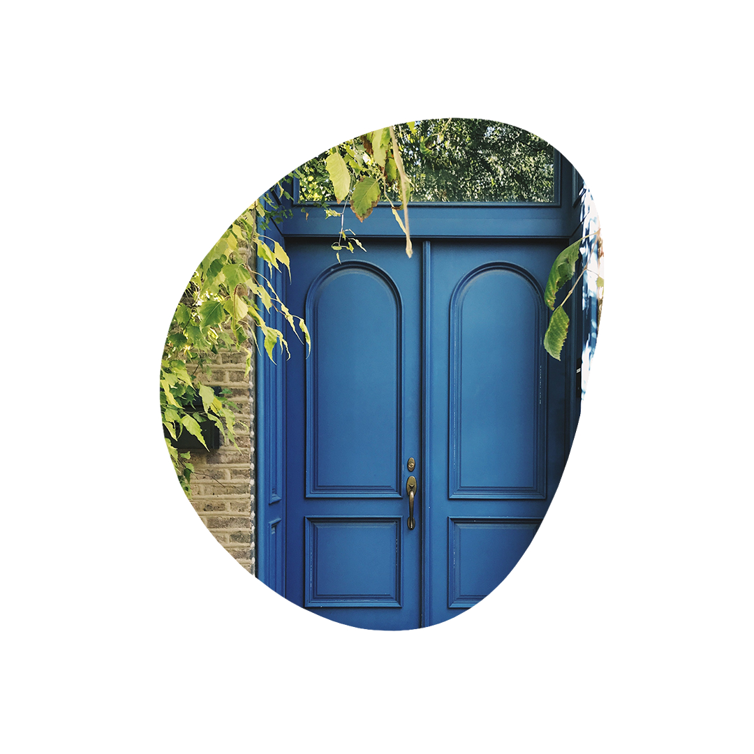 Location Page Cover Doorway Blue